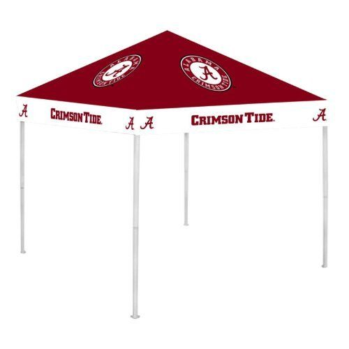 """NCAA Canopy NCAA Team: Alabama by Rivalry. $189.99. RV104-5000 NCAA Team: Alabama Features: -Canopy.-Easy to set up and to take down. Includes: -Includes a carry bag and ground stakes for extra stability. Color/Finish: -Officially licensed team colors and logos. Dimensions: -Dimensions: 6"""" H x 9"""" W x 9"""" D. Collection: -NCAA collection."""