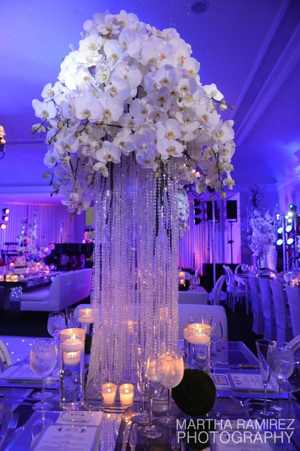 Cascading Crystal Centerpiece » Dream Design Lighting ...