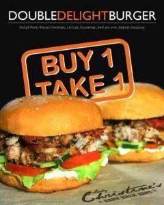 Double Delight Burger Buy 1 Take 1 Promo @ Lady Christine's SM City Manila #DealsPinoy