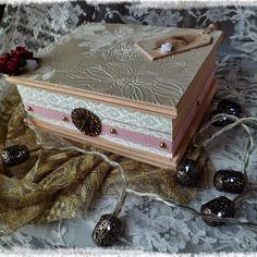 """Boîte à bijoux  """"belles années"""" vintage cadeau fête des mères"""
