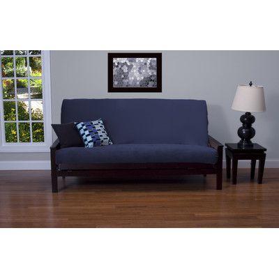 Arterbury Futon Cover Size: 6 in. Full, Upholstery: Deep Blue - http://delanico.com/futons/arterbury-futon-cover-size-6-in-full-upholstery-deep-blue-725177902/