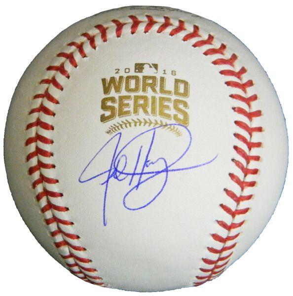 Jed Hoyer Signed Rawlings Official 2016 World Series Baseball - Schwartz COA
