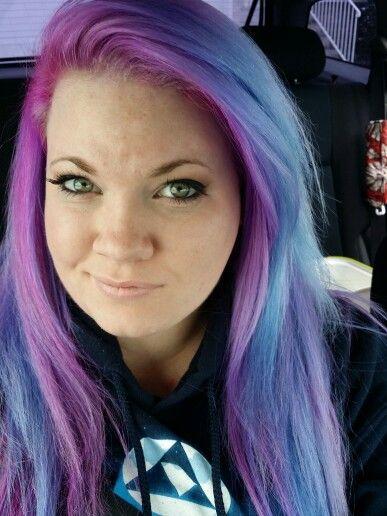 Blue purple hair manic panic
