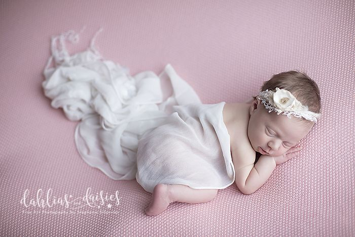 Dallas Newborn Twin Photographer, newborn girl, pink, flowing