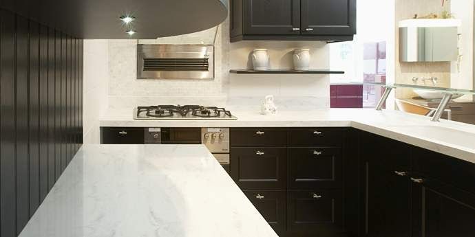 Corian Rain Cloud Kitchen Countertops Corian Rain Cloud Has A Neutral Off White Base With Tender Gray Veining And Traces Of Barely There Lar