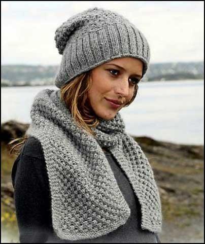 Красивае комплект шапка шарф
