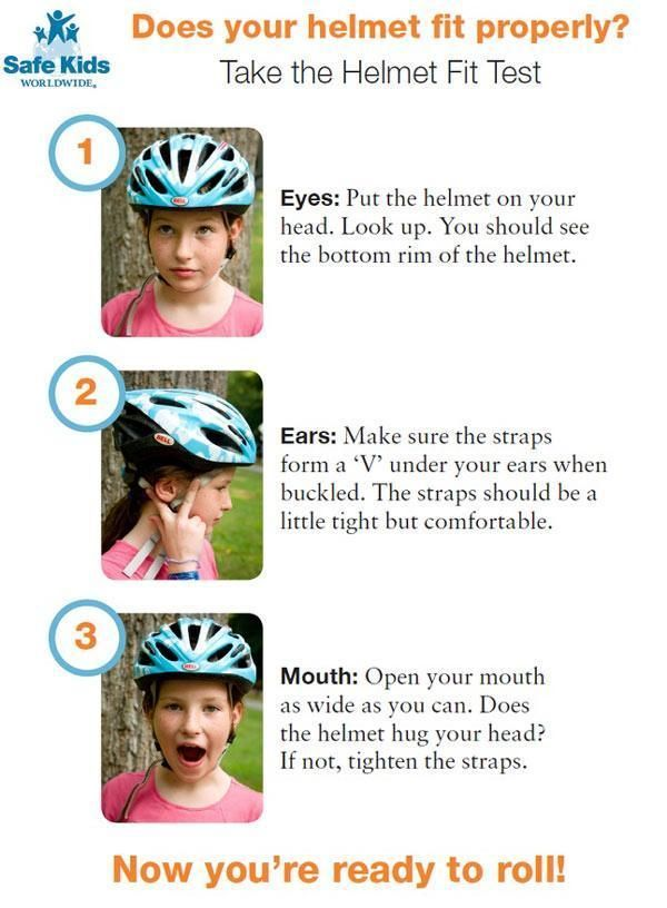 Bike Safety How To Fit Kids For Bike Helmets Bike Safety