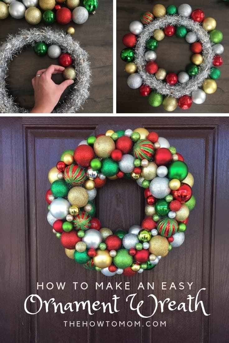 How To Make An Ornament Wreath Ornament Wreath Diy Ornament Wreath Christmas Wreaths Diy