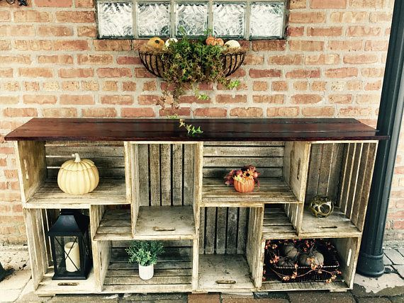 Rustikales Bauernhaus Kisten Bücherregal #BestDIY…