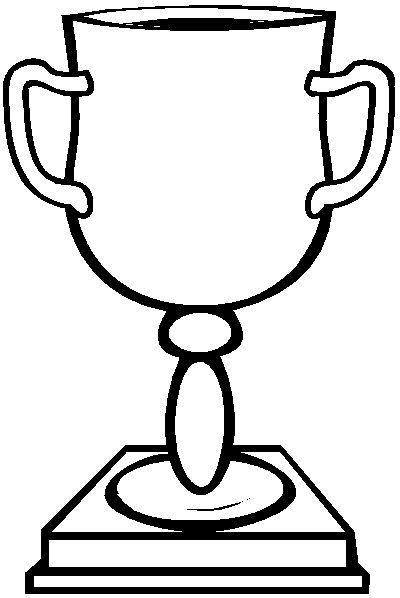 Trophy Coloring Book Page
