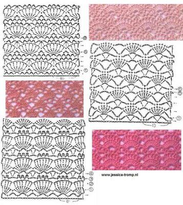 crochet stitch patterns with charts