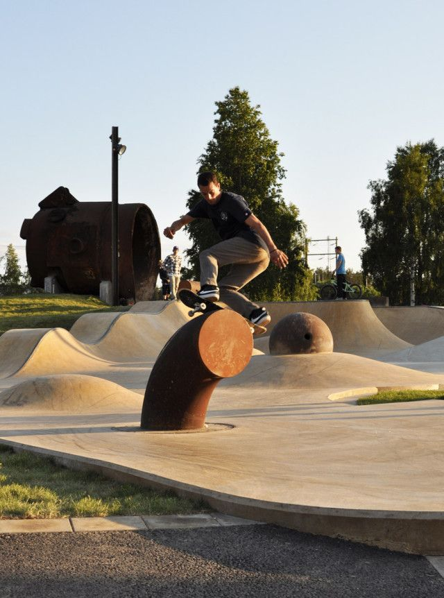 White Cube, SkatePark, Lulea, Suède