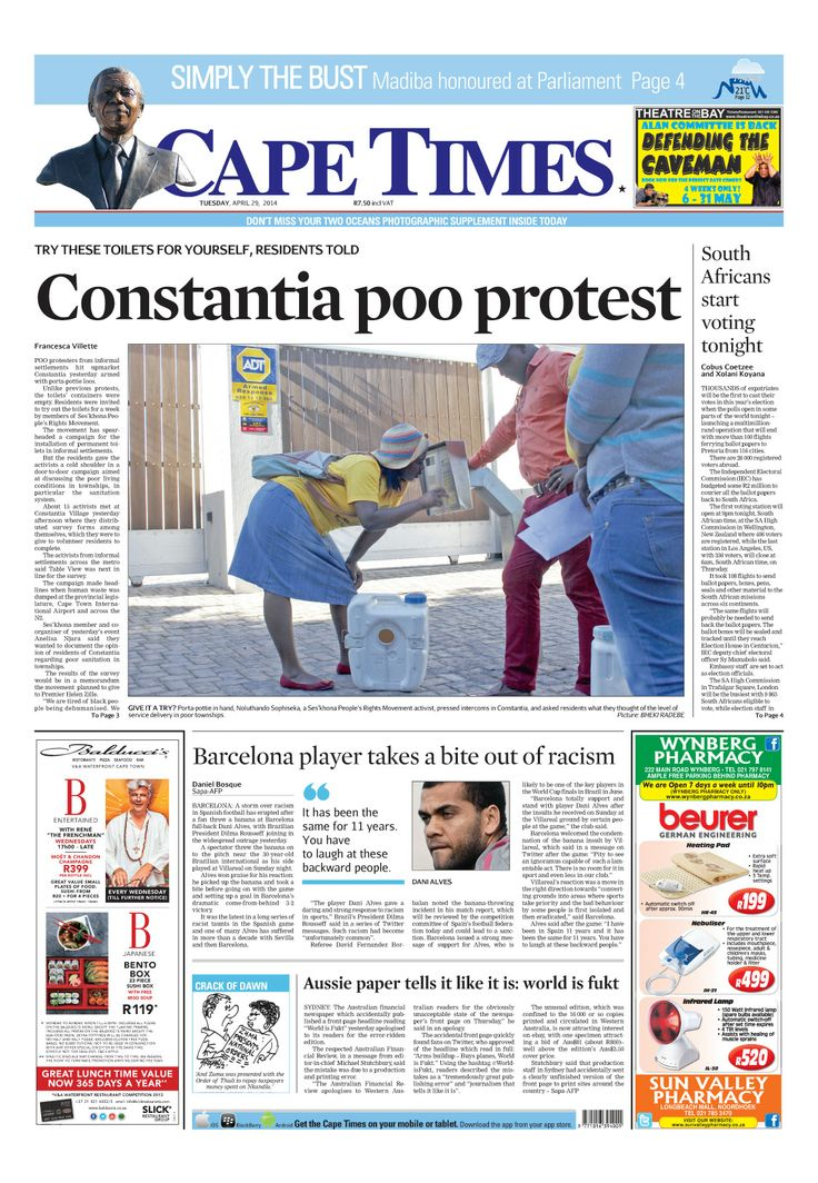 News making headlines: Constantia poo protests