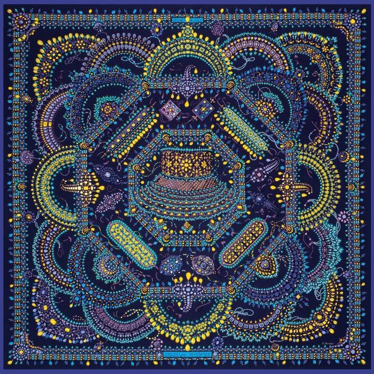 Hermes Parures DES Maharajas 90 Silk Scarf | eBay