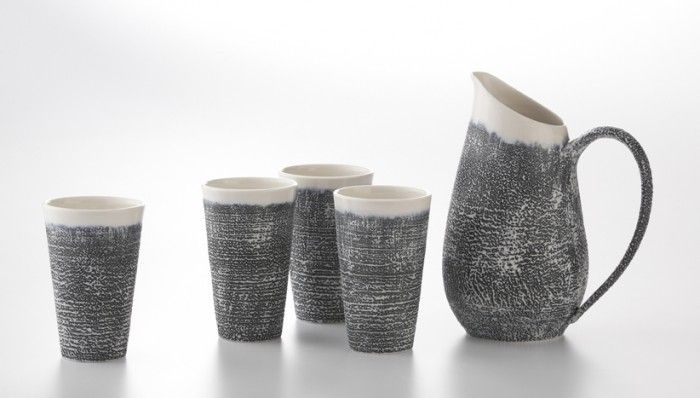 Ceramics from OCAD University graduate Filipa Pimentel feauring her petal and textured collection.