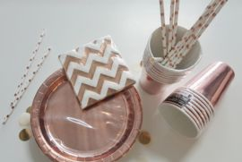 Partyspullen in rose goud. Rose gold, THE trend for your party! At Partyzz! The Hague