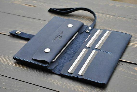 Brieftasche mit Münze Tasche Leder Brieftasche von 9FloorStudio