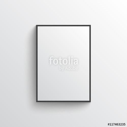 "Download the royalty-free vector ""White blank poster with frame mock-up on grey wall"" designed by mileswork at the lowest price on Fotolia.com. Browse our cheap image bank online to find the perfect stock vector for your marketing projects!"