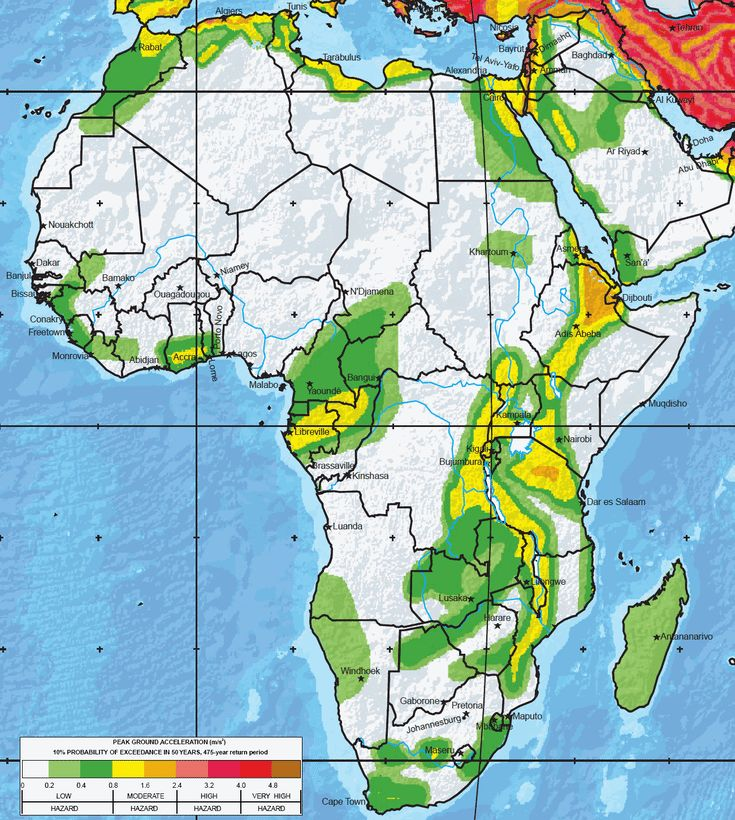 Where Are the Greatest Earthquake Zones on Earth?: Africa
