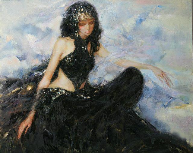 "Инна Цукахина (Inna Tsukakhina), ""Восточный наряд"" (""Girl in Oriental Costume"")"