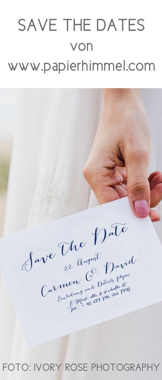Save The Date Calligraphic Chique Hochzeit