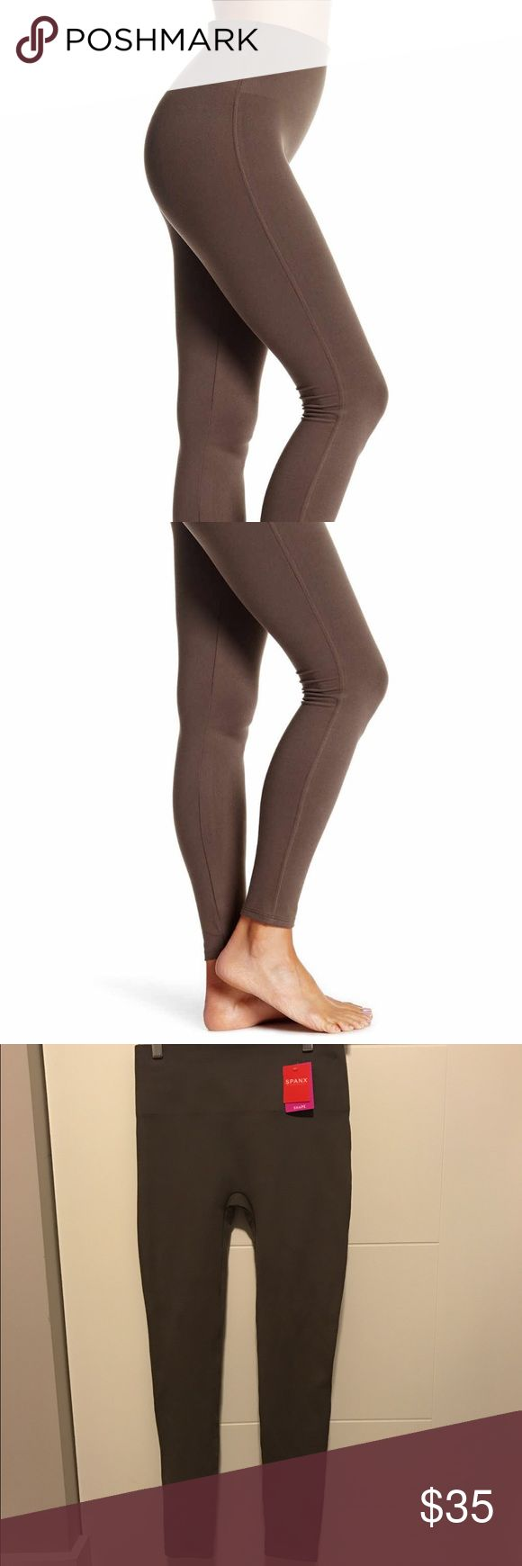 SPANX Essential Legging SPANX Essential Legging. Size is Medium. Color called Sienna which is very neutral brownish green color. These are very concealing and give you a great shape. SPANX Pants Leggings