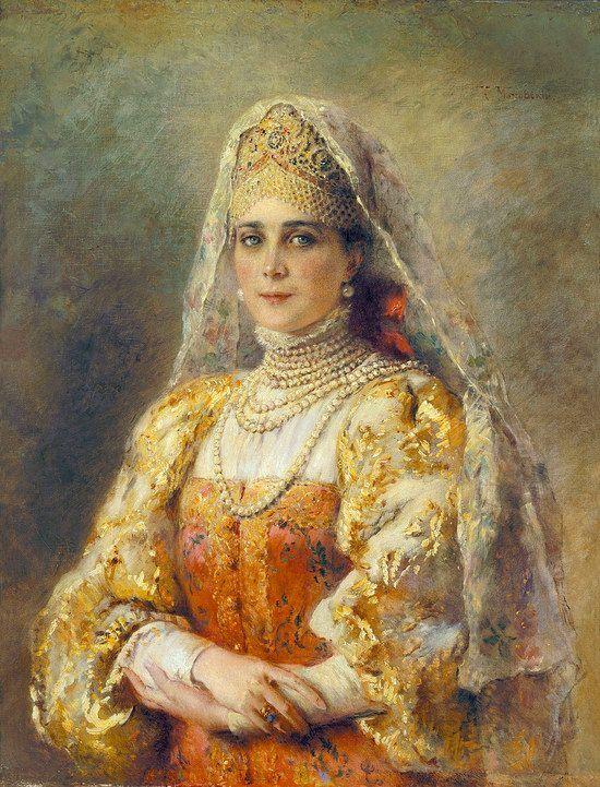 Russian beauty, Konstantin Makovsky painting 6