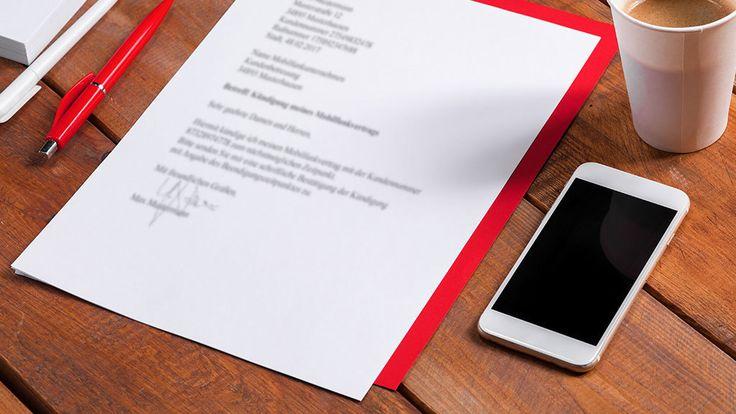 Kündigungsschreiben Handyvertrag