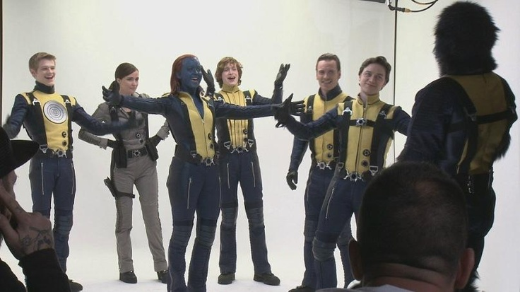 Behind the scene photo of James McAvoy as Charles Xavier / Professor X in X-Men: First Class (taken 12/2010)