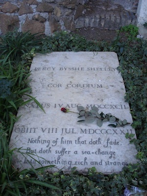 Shelley's grave, Protestant Cemetery, Rome