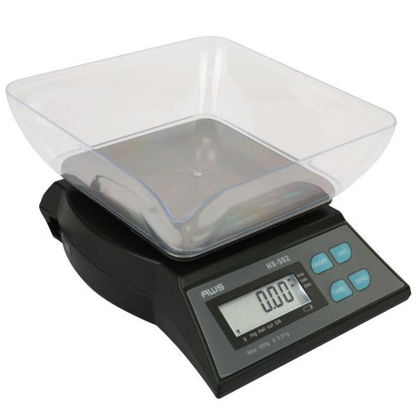Digital Kitchen Scale AWS HX-502 Counter Top 500g x 0.01g AC Adapter