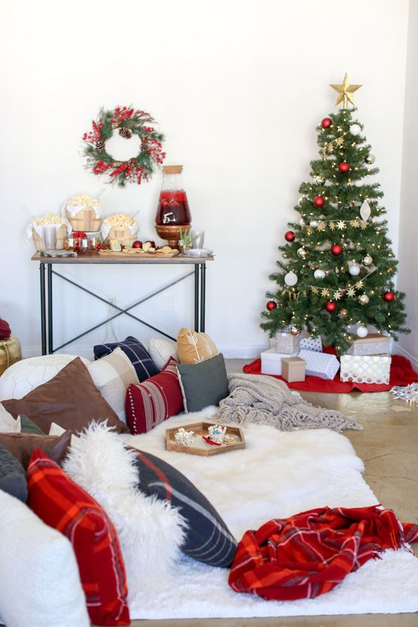 Pajama Christmas Party Ideas Part - 49: Christmas Movie Night Party Ideas, Games, Treats And More. Perfect Holiday Party  Ideas