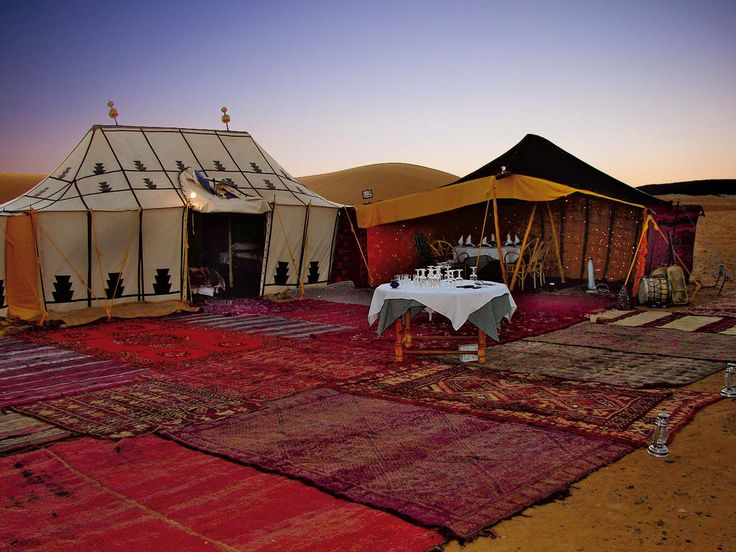 The Caravans Roads- I would so enjoy an evening under the stars in a tented camp on the edge of the Sahara Desert. #travelcompanion