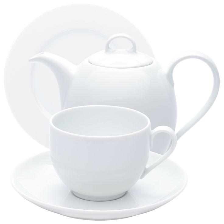 Aronda Kaffeeservice weiß