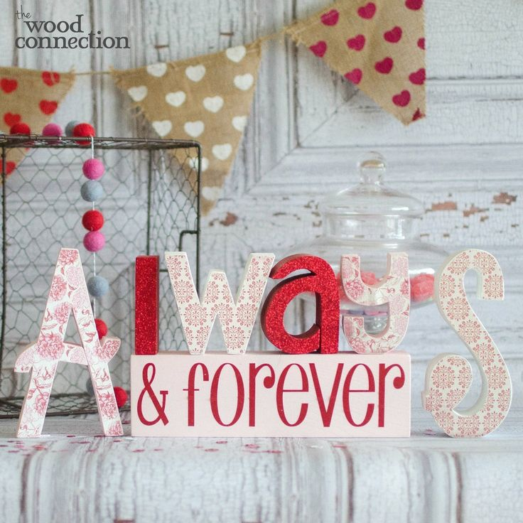 Always U0026 Forever Wood Letters For Valentines Day