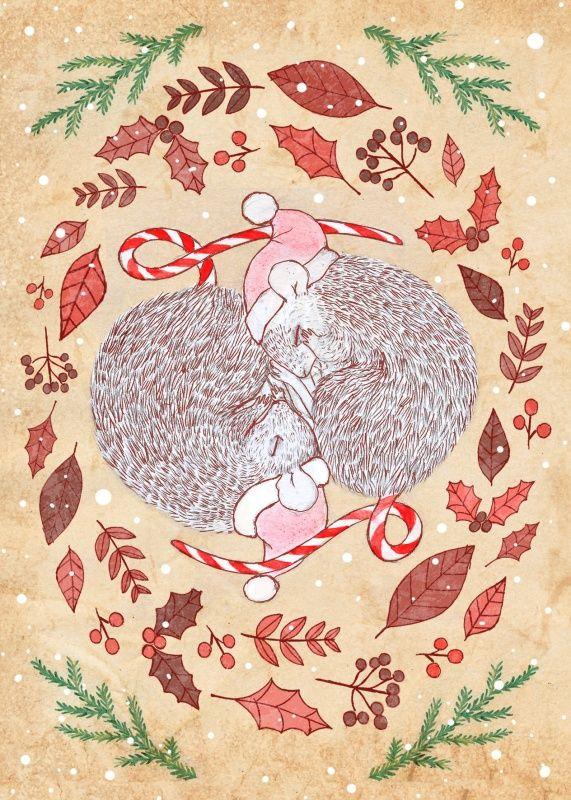 muisjes ★ Rosanne Groeneweg uit de zelfgemaakte kerstkaartenwinkel
