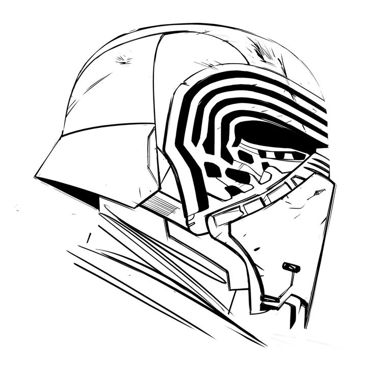 Kylo ren drawing google superhype pinterest for Kylo ren coloring page