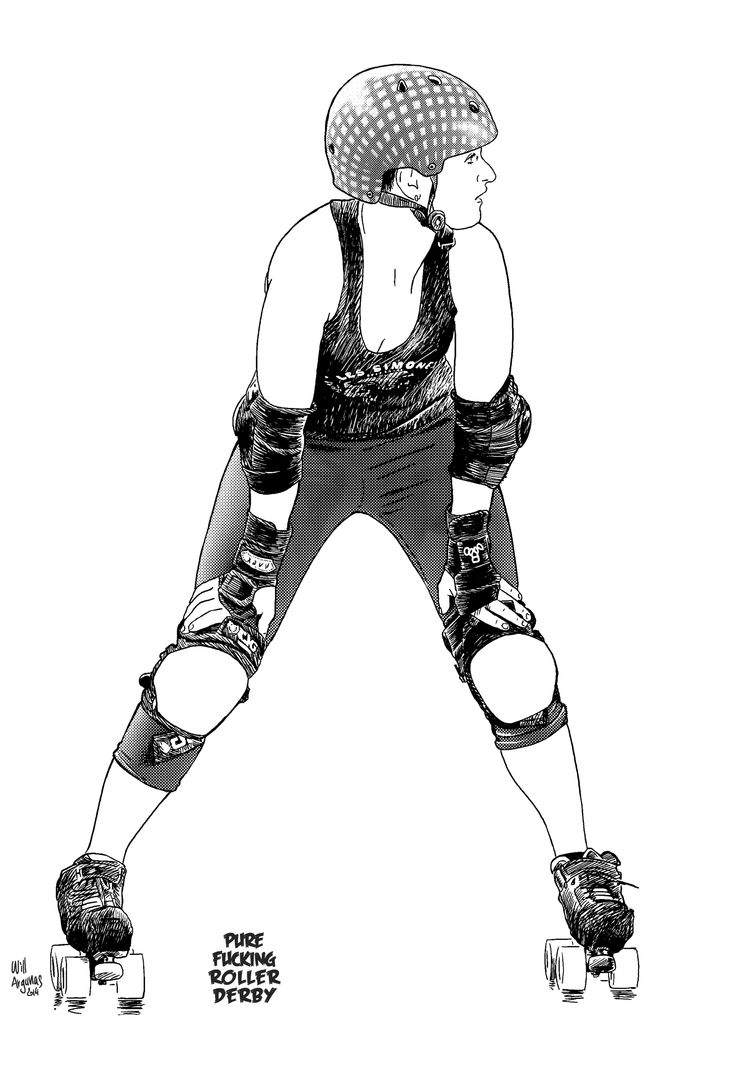 Zebra roller skates - French Roller Derby Girl Uhu Rage