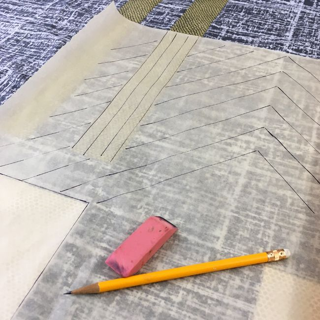 Using tracing paper to plan quilting designs by Sheri Cifaldi-Morrill   Whole Circle Studio