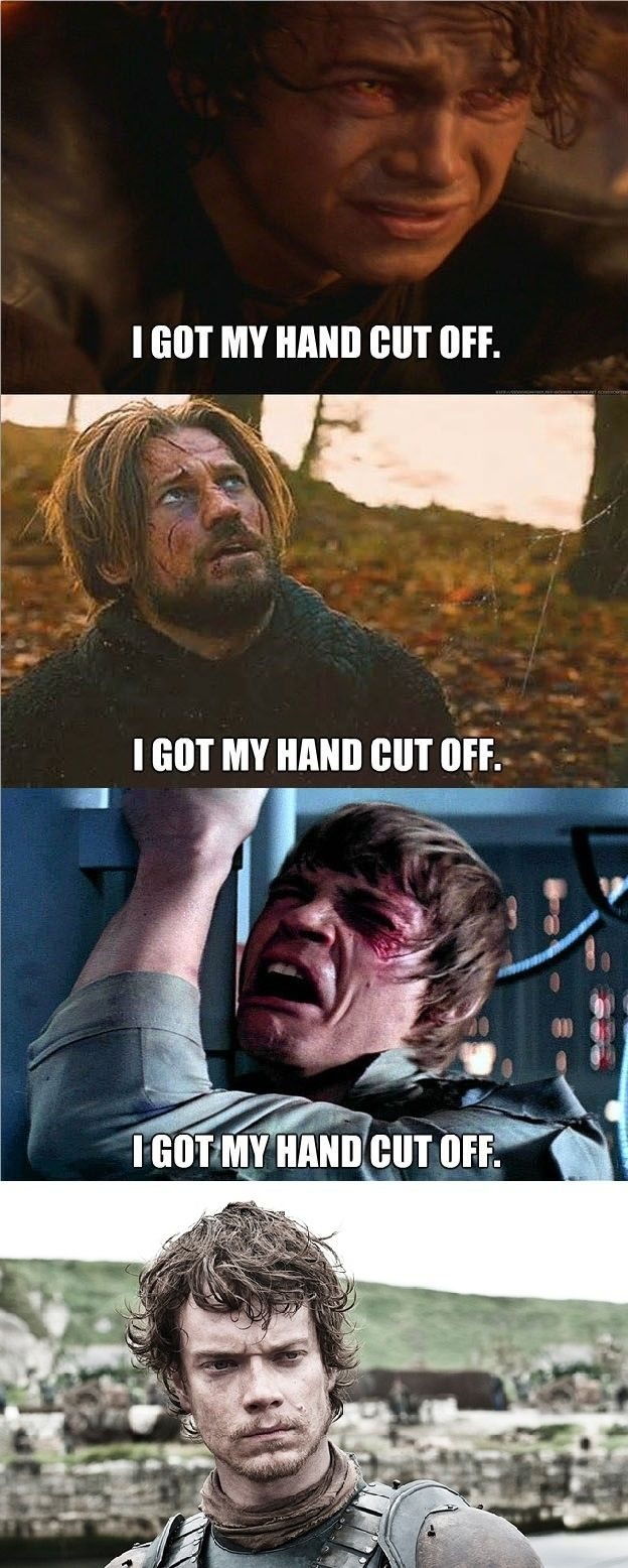 """Star Wars"" Vs. ""Game Of Thrones""  This  probably isn't funny if you haven't watched both of these but the last picture had me in tears..."