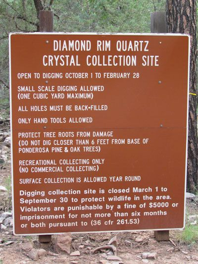 Payson Diamonds Diamond Rim Quartz Crystal Collection Site opens october 1