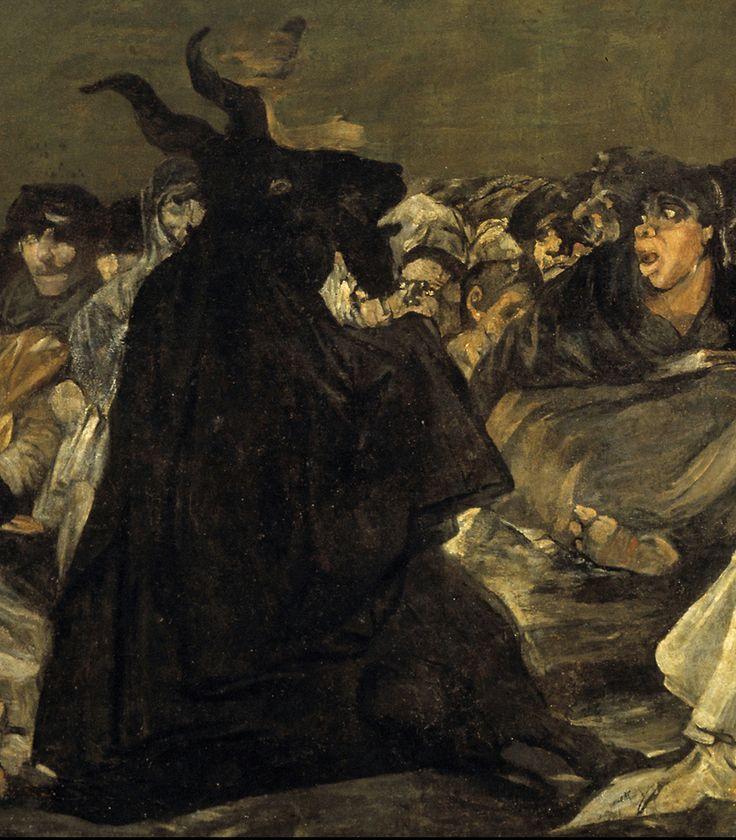 """Francisco de Goya: """"El aquelarre, o El gran cabrón"""" (detail)"""