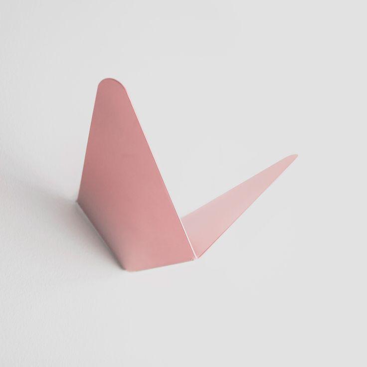 Butterfly coat hanger in pink.  #mwa #makerswithagendas #mwadesign #coathanger #hook  #agendadrivendesign #mwagram #multiuse #minimallogistics