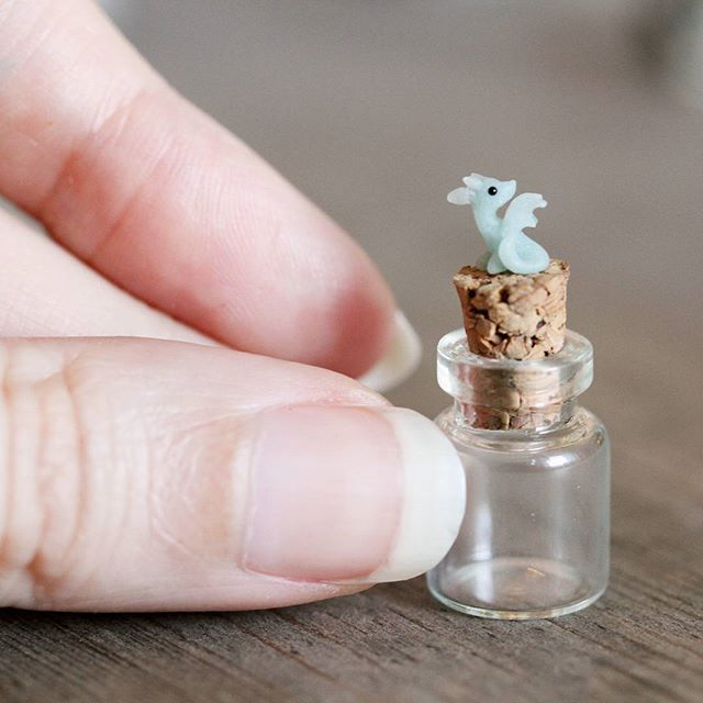 New tiny dragon prototype (not finished yet). What do you think about more dragon-in-a-bottle pendants?