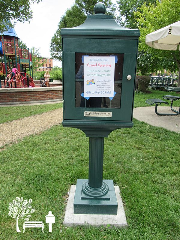 DM Killarney. Kalamazoo, MI. This Little Free Library book exchange had its grand opening and ribbon cutting ceremony on Aug 19, 2017. It is located at the children's playground area of the Arcadia Festival site. Our box is converted from an old phone stand. We stock only kids' books. We love books and are happy to share this love.