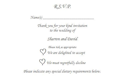 10 X Rsvp Reply Card Personalised Wedding Christening To