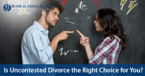Is #UncontestedDivorce the Right Choice for You?
