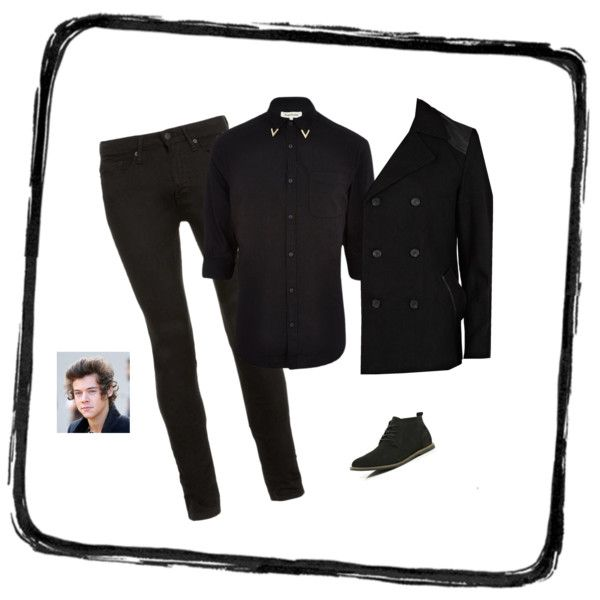 """Harry Styles Midnight Memories Video outfit"" by katie-francesca-kelland on Polyvore"