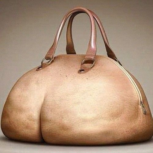 The Butt bag. Too funny but pretty authentic.There's even cellulite. LOL