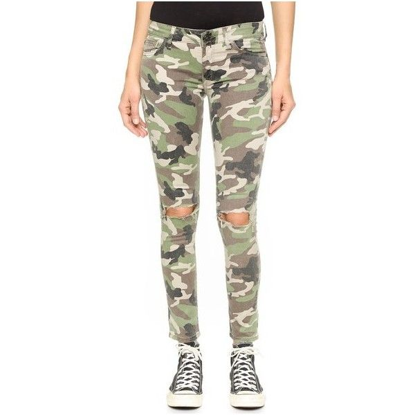 DL1961 Emma Power Legging Jeans ($76) ❤ liked on Polyvore featuring jeans, warden, skinny jeans, camo jeans, skinny leg jeans, camouflage jeans and zipper skinny jeans